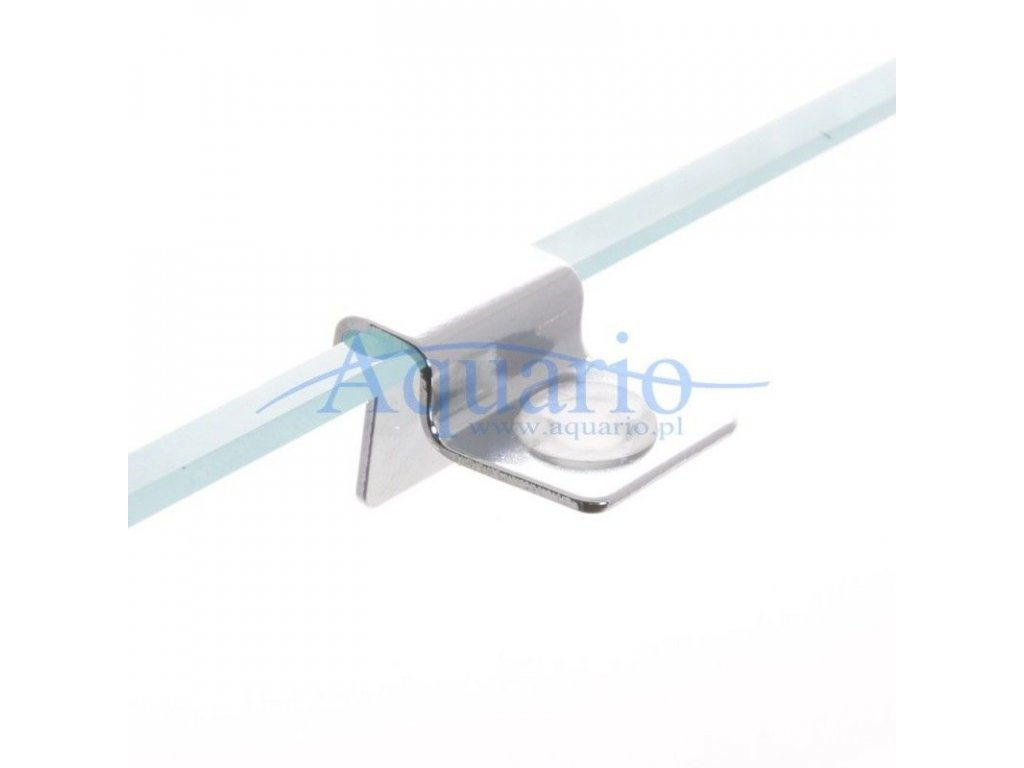 Úchyty krycích skel 4 ks na sklo 6 mm