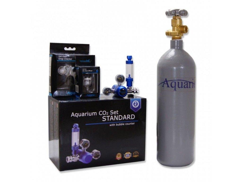 Akvaristika-365.cz BLUE STANDARD Co2 set 2l bez nočního vypínání - ZDARMA - difuzor, dropchecker, co2 hadička