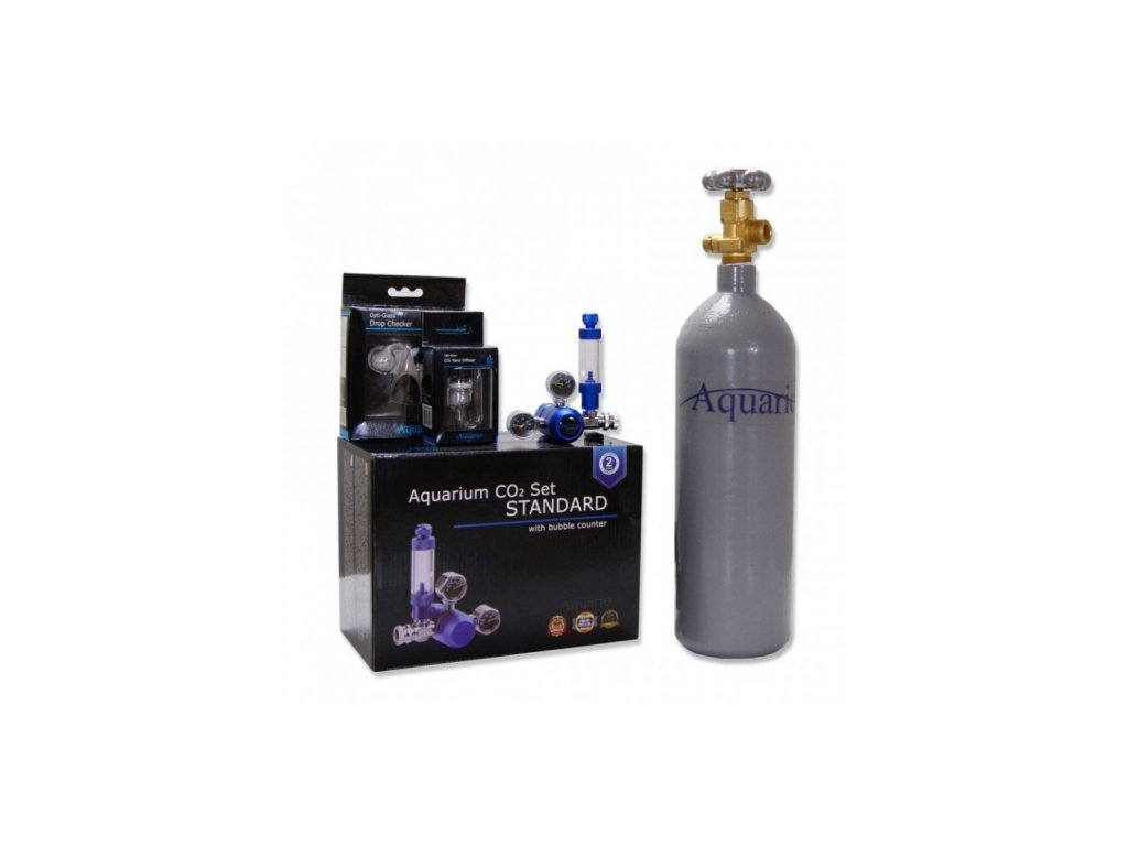 BLUE STANDARD Co2 set 2l bez nočního vypínání - ZDARMA - difuzor, dropchecker, co2 hadička