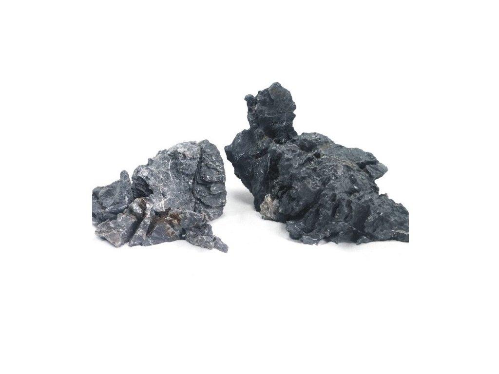 Kámen Seiryu stone black velikost M (1-2 kg 15-25cm)