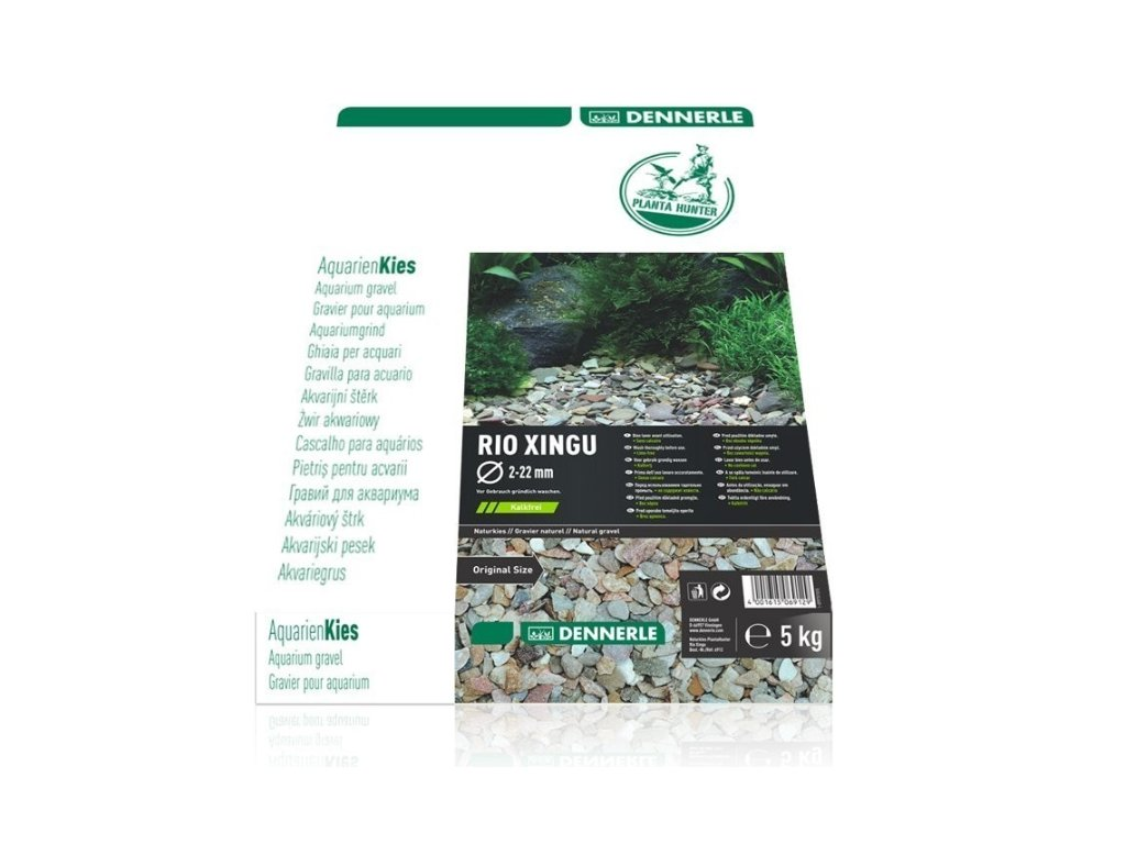 Dennerle přírodní štěrk Plantahunter Rio Xingu 2-22 mm, 5 kg