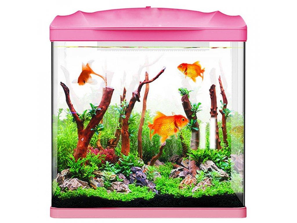 SUNSUN Pika-Pika AquaKids - akvárium 4l růžové