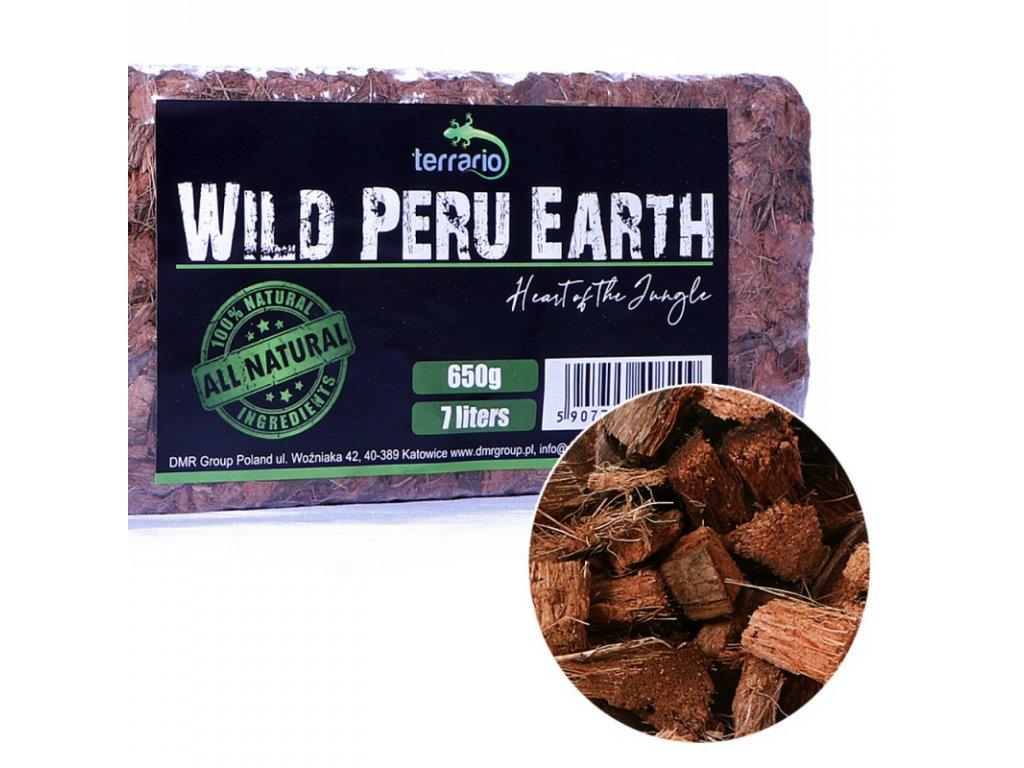 Terrario Wild Peru Earth 7l 650g - substrát z kokosových chipsů
