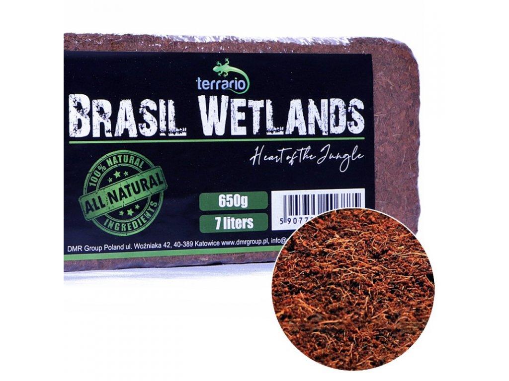Terrario Brasil Wetlands 7l 650g - substrát z kokosových vláken