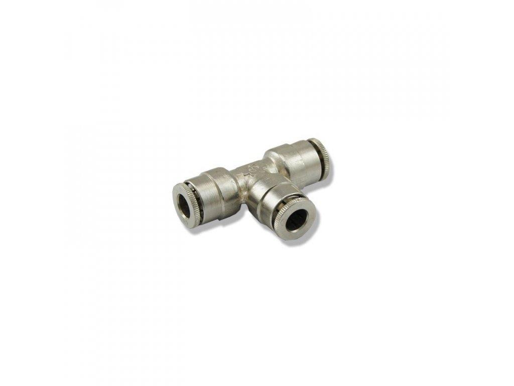 Kovová rozdvojka T na hadičku 6/4mm