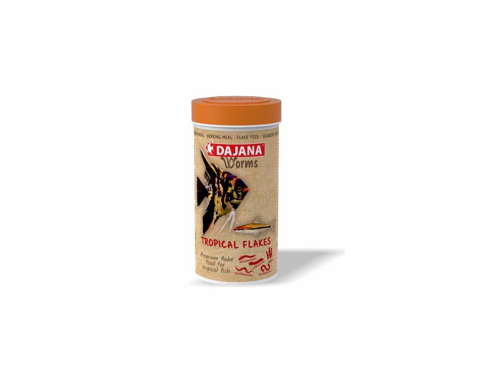 Dajana Worms Tropical flakes 250 ml