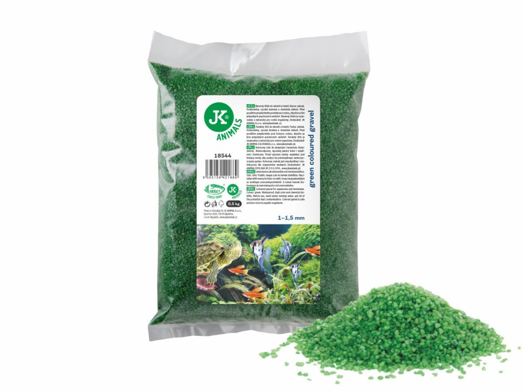 Dekorační štěrk zelený 0,5 Kg