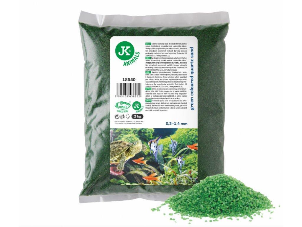 Dekorační štěrk zelený 2 Kg