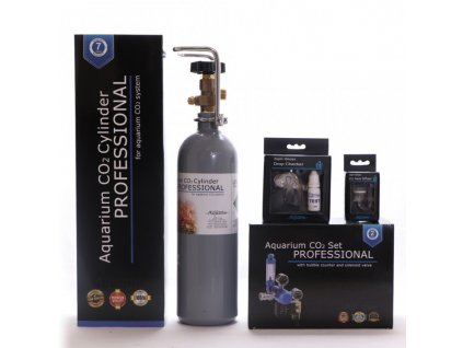 Akvaristika-365.cz BLUE Professional Co2 set 2l s nočním vypínáním - ZDARMA - difuzor, dropchecker, co2 hadička