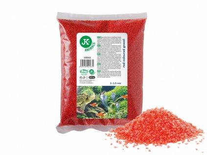Dekorační štěrk červený 0,5 Kg