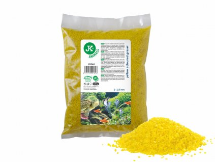 Dekorační štěrk žlutý 0,5 Kg