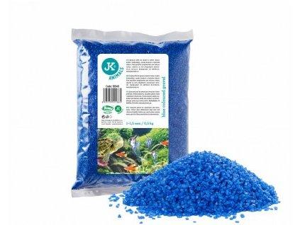 JK Animals modrý dekorační štěrk 1–1,5 mm, 0,5 kg