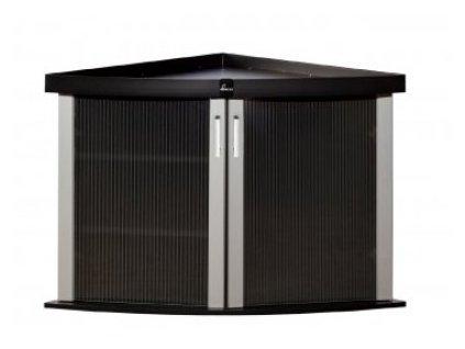 Stolek Modern 57x57x77cm rohový černá