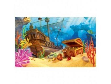 Akvarijní pozadí Galleon 3D 60x30cm