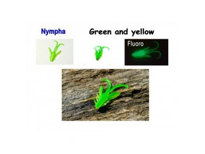Nympha 40mm Green and yellow 10pcs