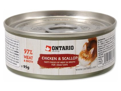 ONTARIO KONZERVA CHICKEN PIECES + SCALLOP 95G