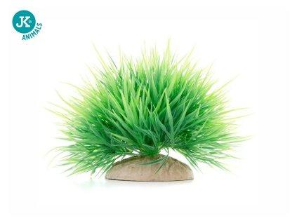 Tráva mini zelená, akvarijní plastová rostlinka