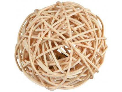 Proutěný míček s rolničkou 4cm
