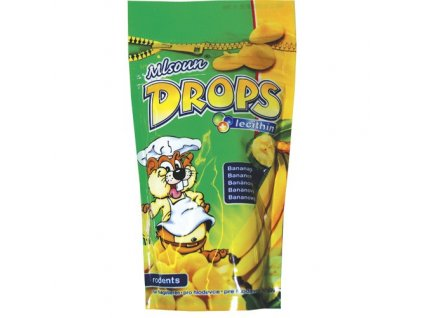Mlsoun drops banánový 75g