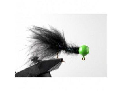 Jigstreamery Marabou 2 gr. černý 3 kusy