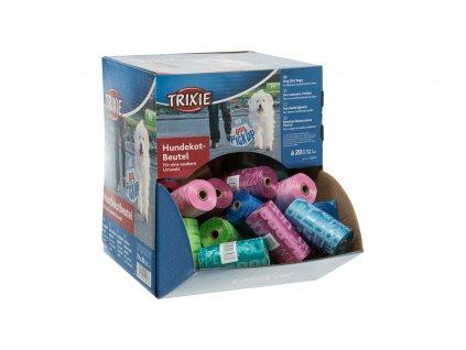 Box s rolemi barevných WC sáčků M