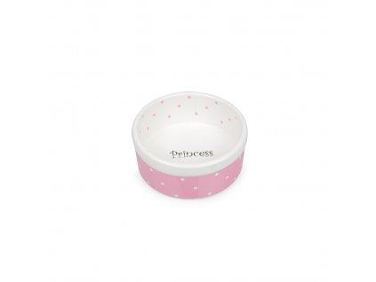 Keramická miska růžovo/bílá Princess