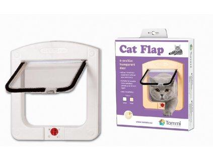 Cats Flap - kočičí dvířka, bílá