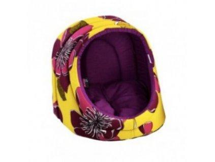 Pelíšek pro psa / kočku Logia, fialový s květy DIVERSA