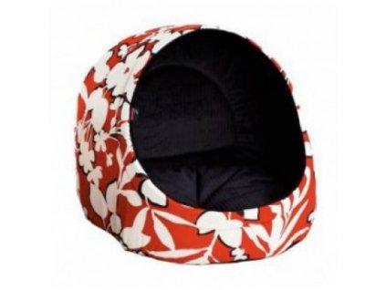 Pelíšek pro psa / kočku Logia, červený s květy DIVERSA