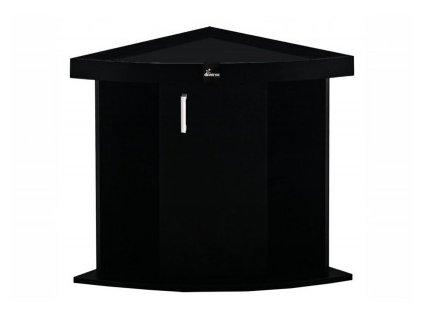 Stolek Comfort 72x72x67cm černý rohový