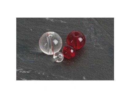 PFS - Round Glass Beads - průhledné 8mm