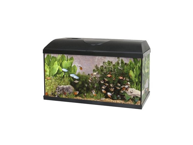 SET Akvárium PACIFIC 80x30x40 cm 96Litru - LED OSVĚTLENÍ