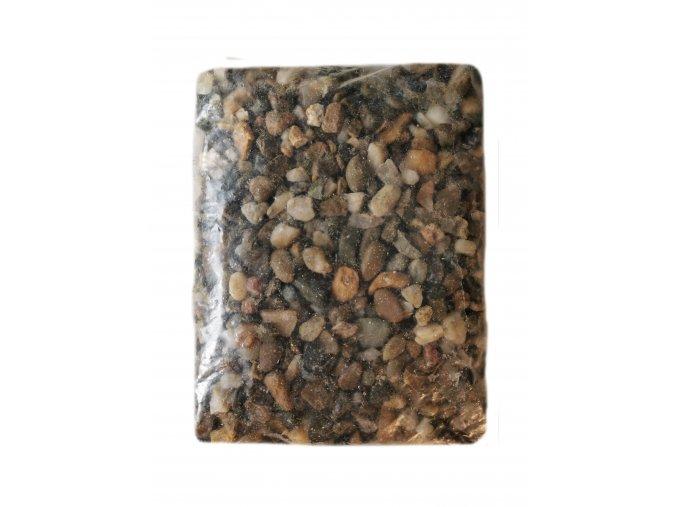 Akvarijní štěrk přírodní hrubý 9-16 mm (2 litry – cca 2,5 kg)