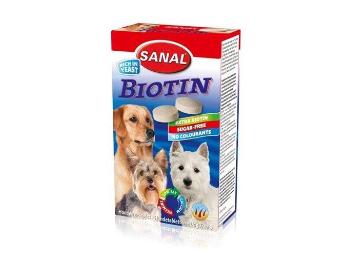 SANAL Biotin - kalciové tablety s biotinem 100 tablet