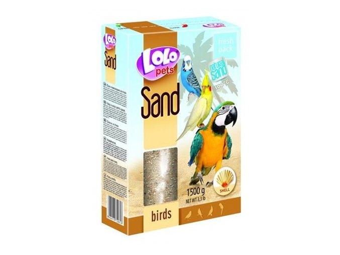 LOLOpets písek s mušlemi pro ptáky 1500 g
