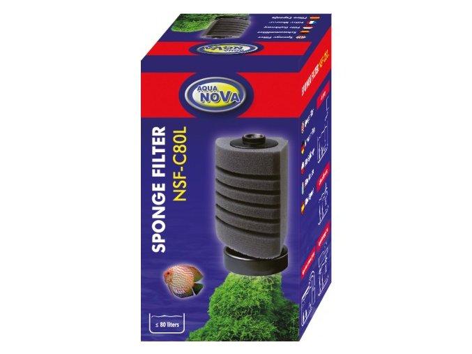 Vnitřní molitanový filtr - rohový NSF-C80l