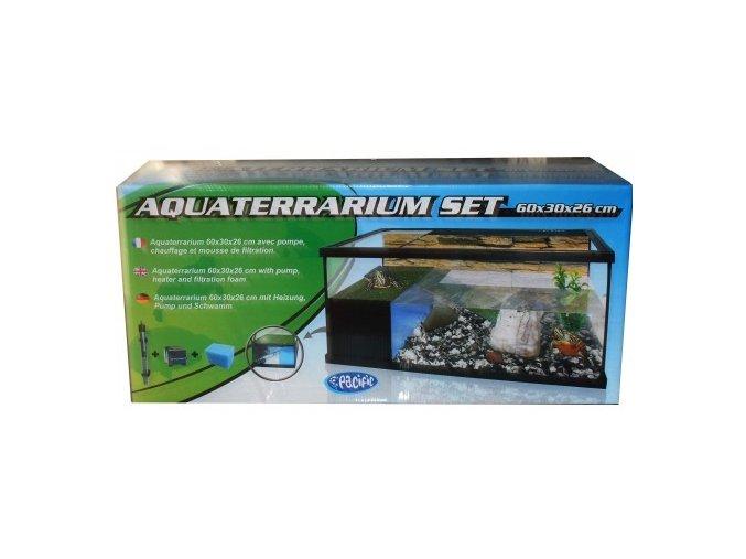 SET Aquaterrarium PACIFIC želvárium 60x30x26cm