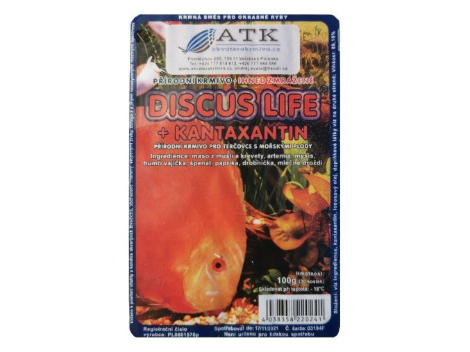 Discus life + canthaxanthin 100g blistr