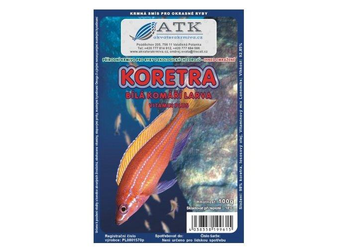 Koretra - komáří larvy bílé 500g tafle