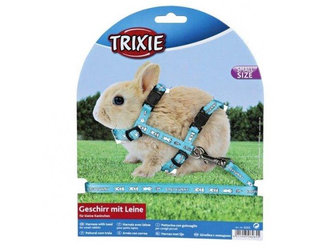 Postroj pro králíky s motivem BABY BUNNY 20-33cm/8mm