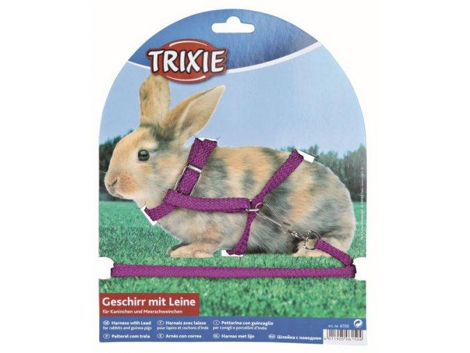 Postroj s vodítkem nylonový pro králíky 25-44/1cm, 1,25m