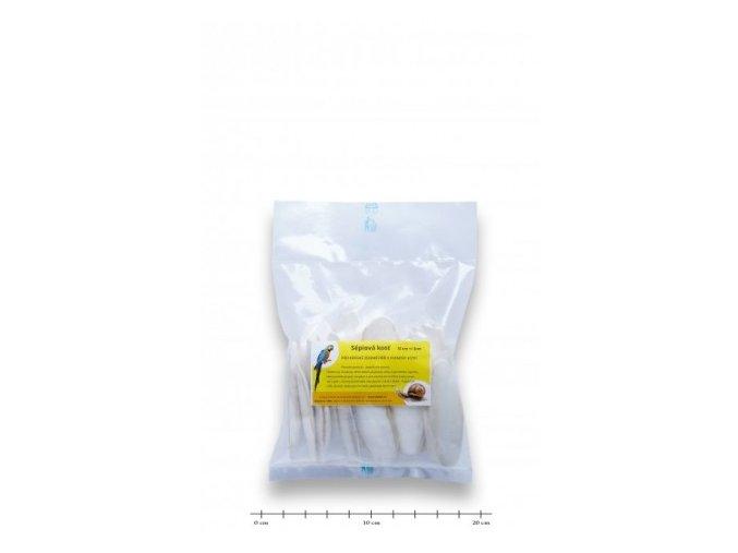 Sépiová kost broušená 10cm +/-3cm - 20ks