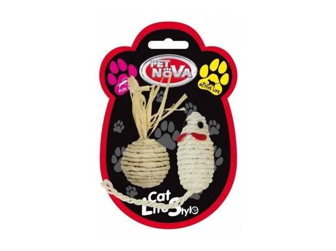 Sisalový SET - myš a balónek
