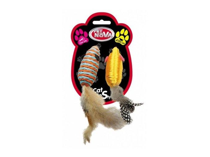 Sisalové myšky (2ks v bal.) SET FEATHER7