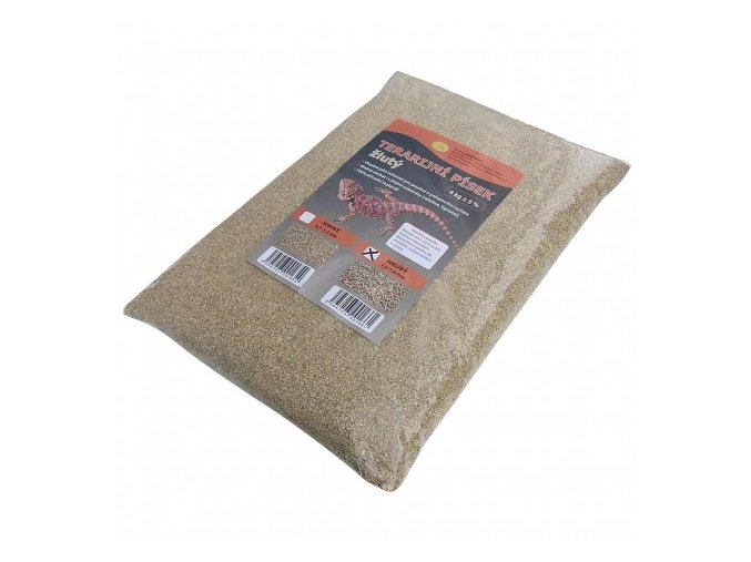 Terarijní písek žlutý hrubý 4kg