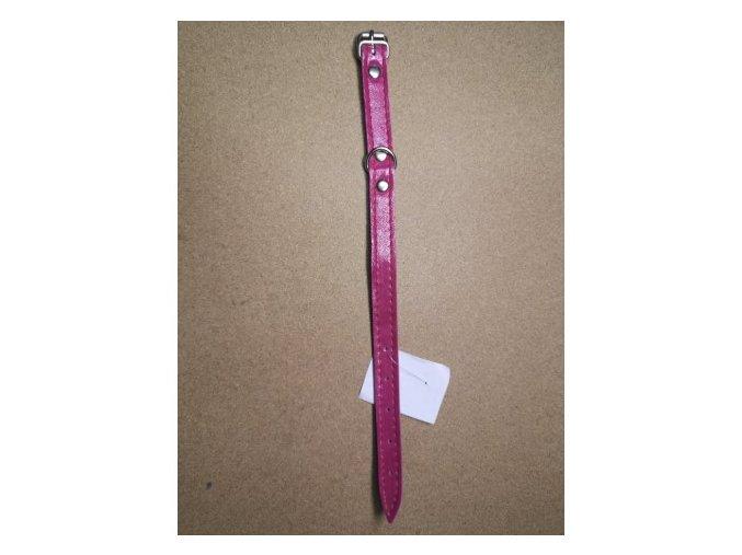 Kožený obojek DOLEŽEL 30cm růžový