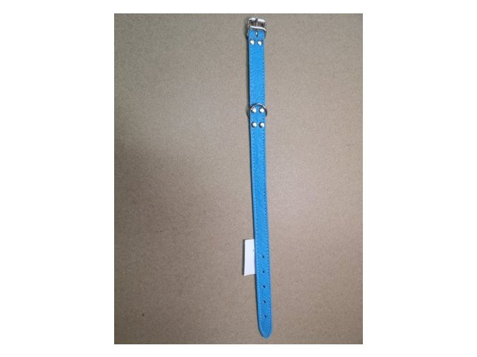 Kožený obojek DOLEŽEL 45cm modrá