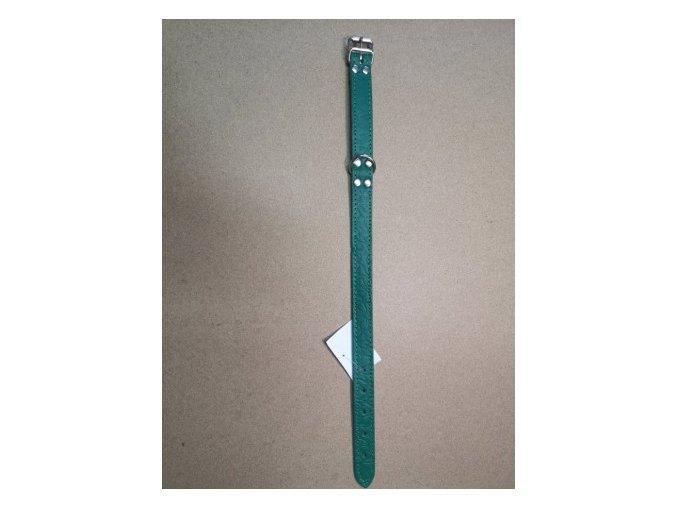 Kožený obojek DOLEŽEL 50cm zelená