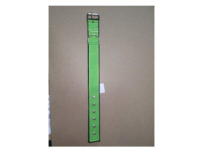 Obojek popruh DOLEŽEL kovová přezka polstrovaný 60cm zelená
