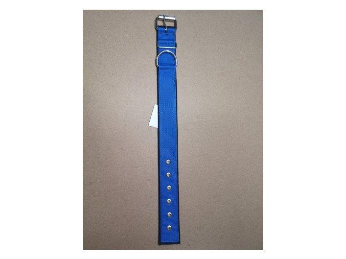 Obojek popruh DOLEŽEL kovová přezka polstrovaný 70cm tmavě modrá